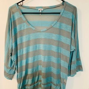 Splendid stripe top soft shirt size large